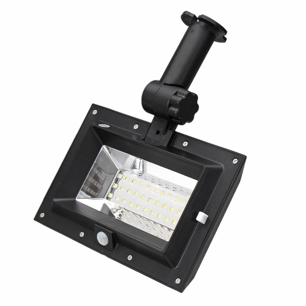 30 LED Solar PIR Motion Sensor Waterproof Wall Light Outdoor Gutter Garden Lamp