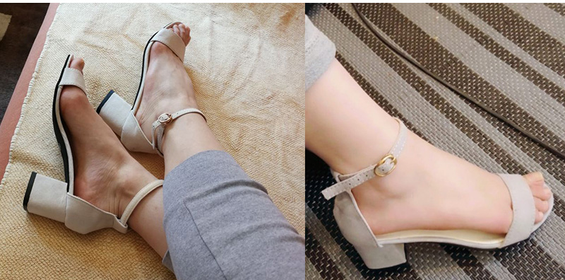 HTB1aNSYCStYBeNjSspaq6yOOFXaE MCCKLE Summer Women Shoes Gladiator Buckle Strap Cover Heel Fashion Chunky Ladies Sandals For Woman Ankle Strap Footwear
