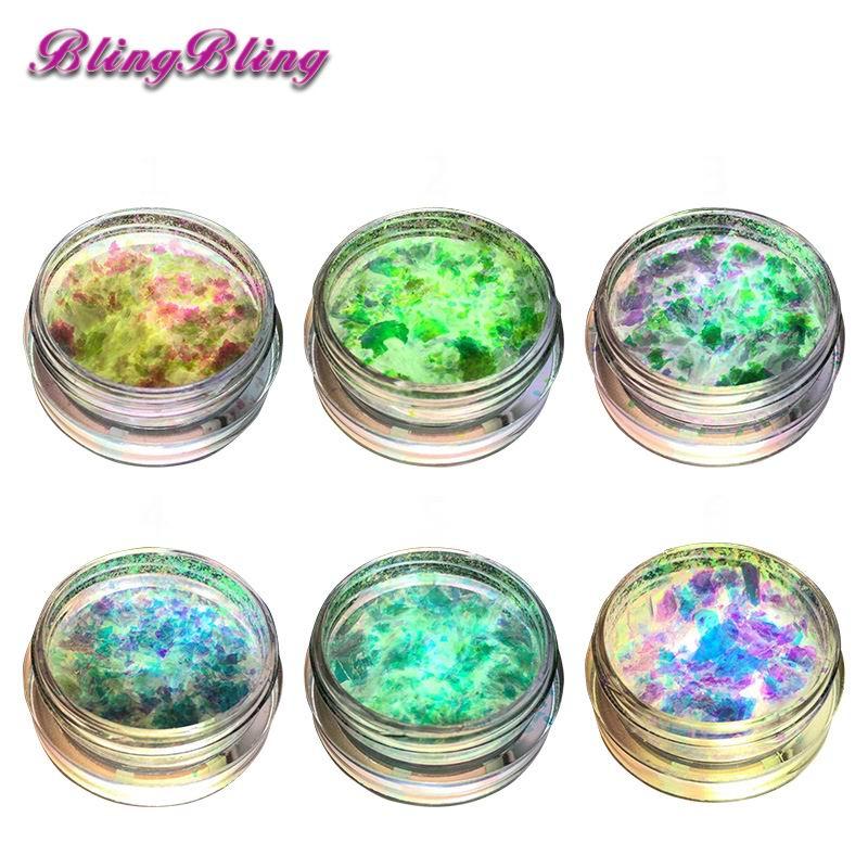 1 Box Chameleon Flakes Shimmer Galaxy Nail Glitter Dust: 1 Box Chameleon Flakes Multichrome Nail Glitter Powder