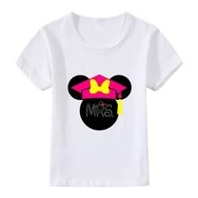 Interesting Birthday Present Bowknot Cute Cartoon Modal Kidswear, Boy/girl Summer T-shirt Short Sleeve White Kid Clothes