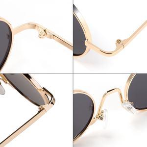 Image 4 - SPLOV בציר ראפ משקפי שמש גברים נשים קיטור פאנק בסגנון היפ הופ קטן עגול מתכת מסגרת משקפי שמש רטרו Gafas דה סול עם מקרה