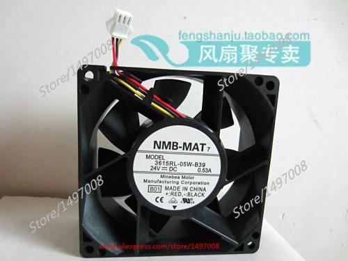 NMB-MAT 3615RL-05W-B39, B01 DC 24V 0.53A, 90x90x38mm     Server Square  fan гирлянда с насадками richled 3x0 7 м rl psf3 0 7c w b