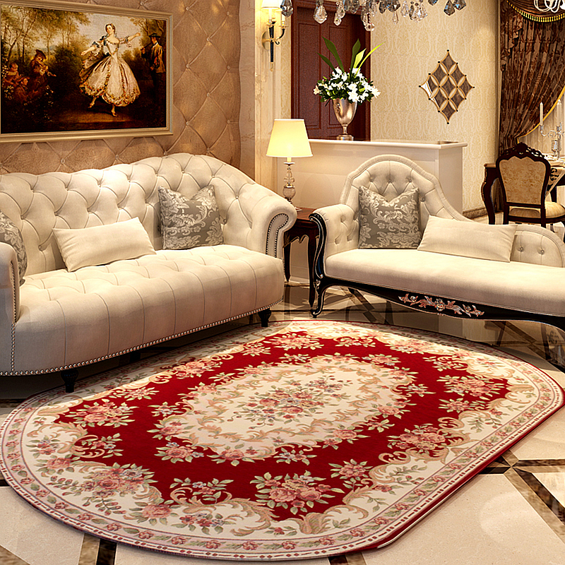 160*230CM Oval Pastoral Carpets For Living Room Home Rugs
