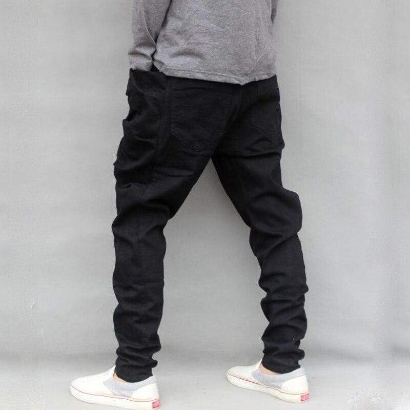 caliente pantalones los Harem entrepierna de pantalones casual 2018 hombres vaqueros pantalones la Hop de hombre de hombre negro delgado gota Hip 5wPq6Y