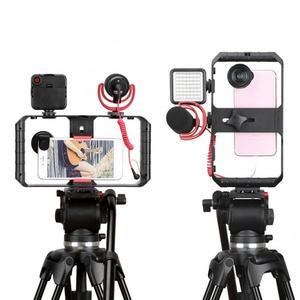 Image 2 - Ulanzi Smartphone Video Rig 3 Hot Shoe Mounts Filmmaken Case Stabilizer Frame Stand Telefoon Houder Voor Samsung Iphone Huawei
