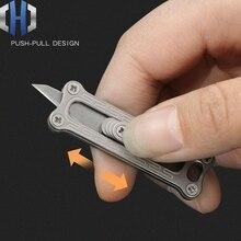 EDC Push Knives Outdoor Survival Mini Titanium Wallpaper Knife Split Express Artifact Portable Box