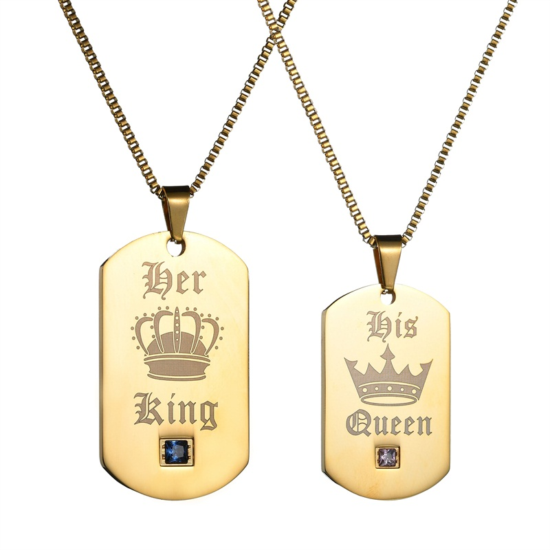Image result for her king his queen necklace