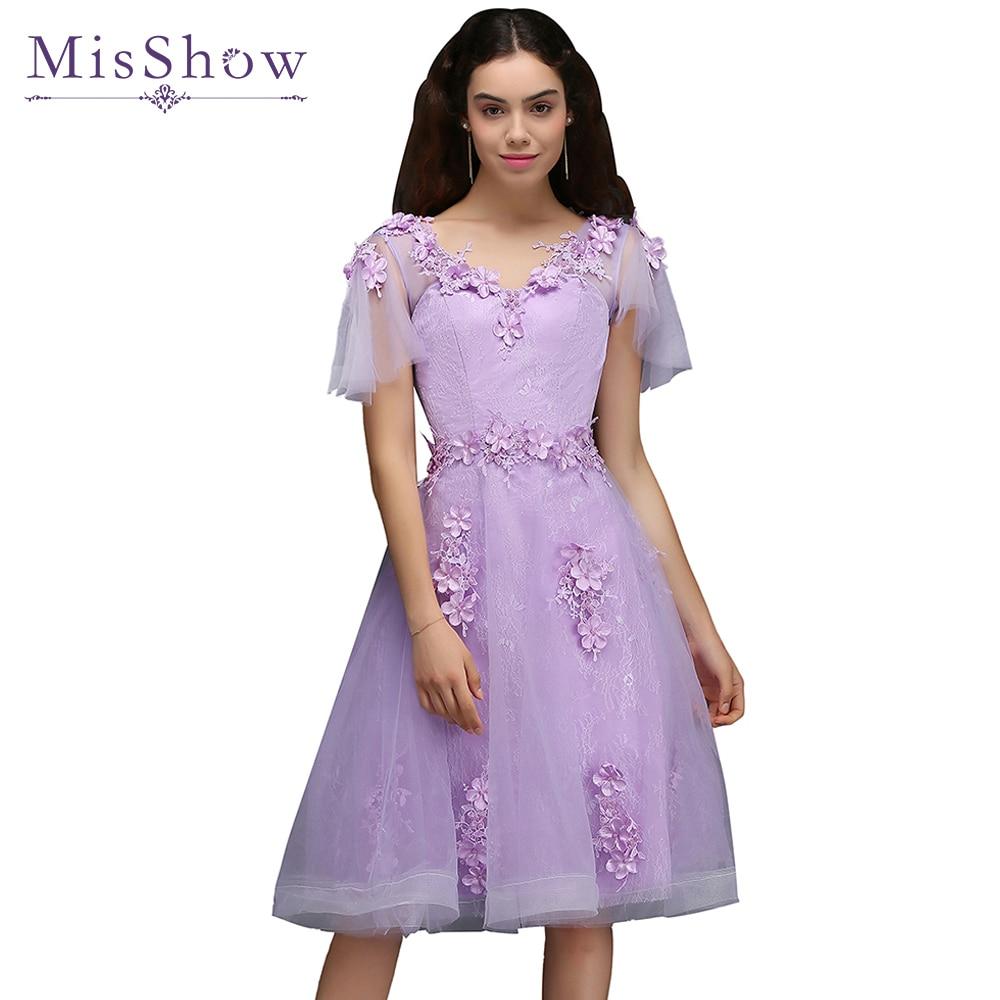 Tienda Online Vestidos cortos vestidos de fiesta Lila Vestido de ...