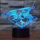 <+>  Творческий LED 3D Night Light Фитнес-Оборудование Лампы Сенсорный Выключатель Vision Lampara USB 7 Ц ★