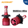 Auxmart H4 LED Headlight Kit Auto G9 SMD CREE Chips Car Led Head Lamp High Low Beam Dipped Beam 80W Head Light 9003 HB2