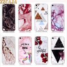 ZZCAJA For iPod Touch 5 Case Cute Silicon Smooth Marble Granite Moor stone Flower Soft TPU Phone Cover For iPod Touch 6 Fundas