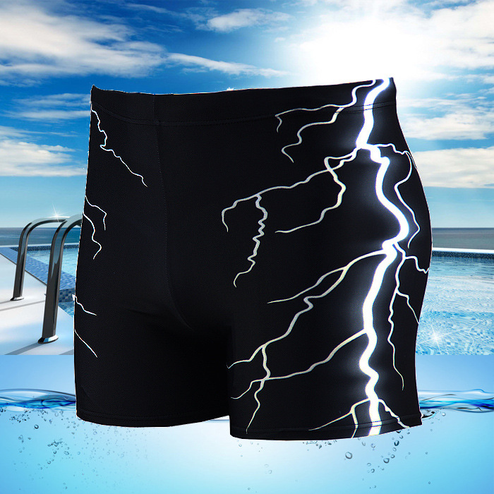 Men Swimsuit Beach Board Surf Swimming Trunks Sports Suits Sexy Men print Swimwear boy Swim Boxer Shorts Men Bikini Swim Trunks u pouch design color block splicing letters print men s boxer brief