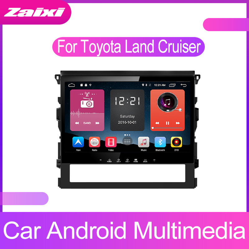 ZaiXi For Toyota Land Cruiser 2016~2019 Android Car GPS Multimedia player 2 Din WIFI Navigation Autoradio Radio Maps BT FM