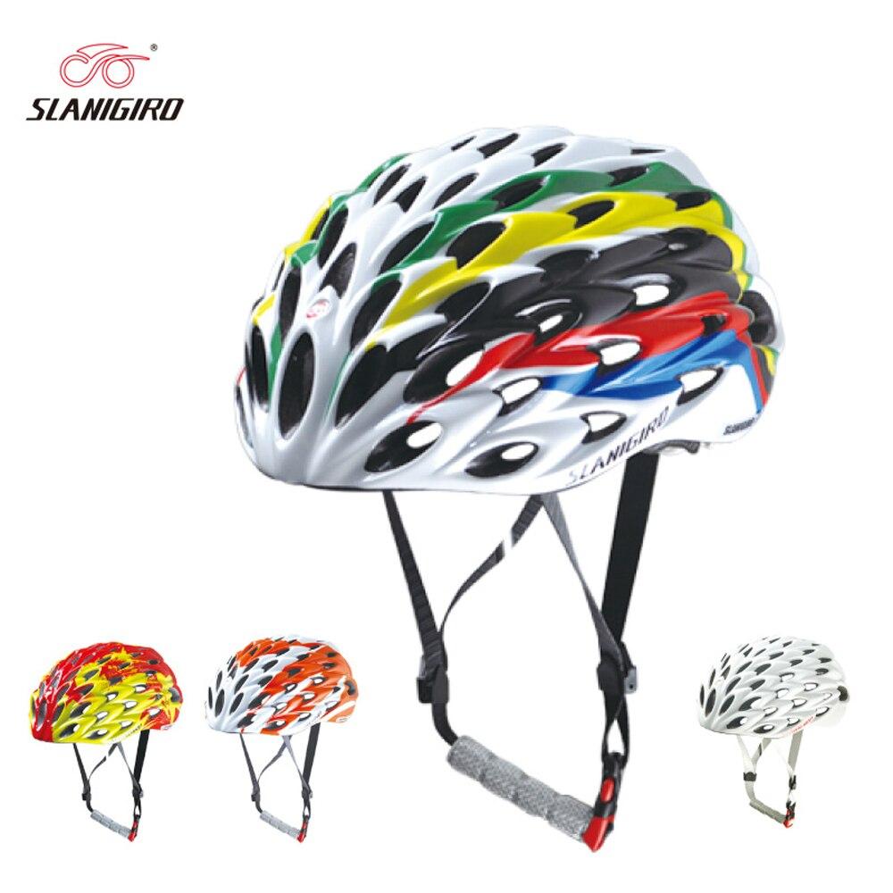 2018 Nouveau SLANIGIRO Ultra-Léger Vélo Casque 58 Évents Casco Ciclismo Casque De Vélo Vélo De Route Casques Concurrence Cycling Cap