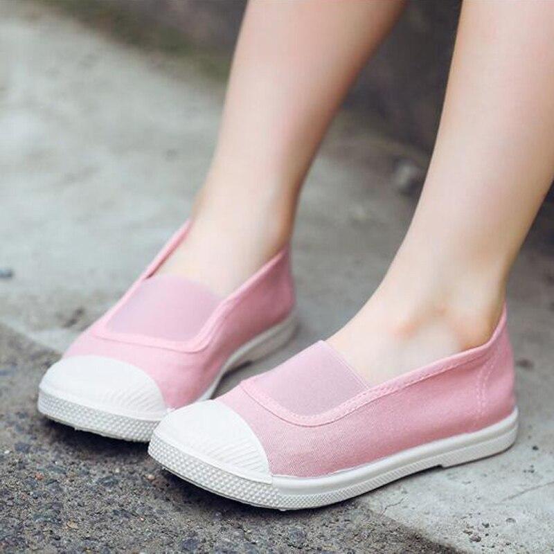 Sepatu Anak Laki-laki dan Perempuan Sepatu Kasual Warna Permen Sepatu Malas Lengan Bersol Lembut 2019