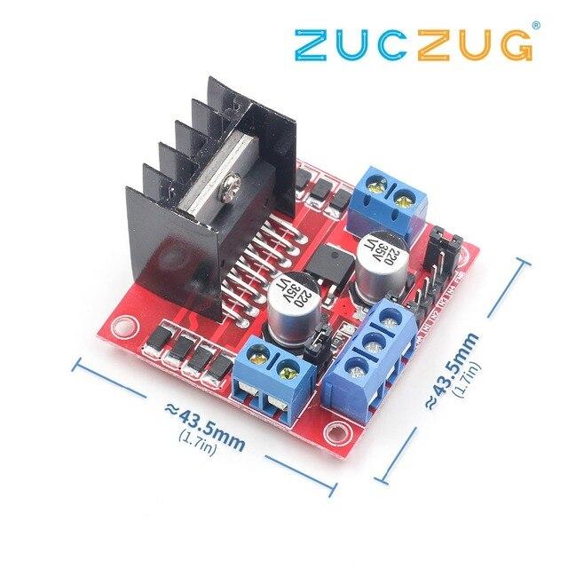 1PCS New Dual H Bridge DC Stepper Motor Drive Controller Board Module L298N for Arduino