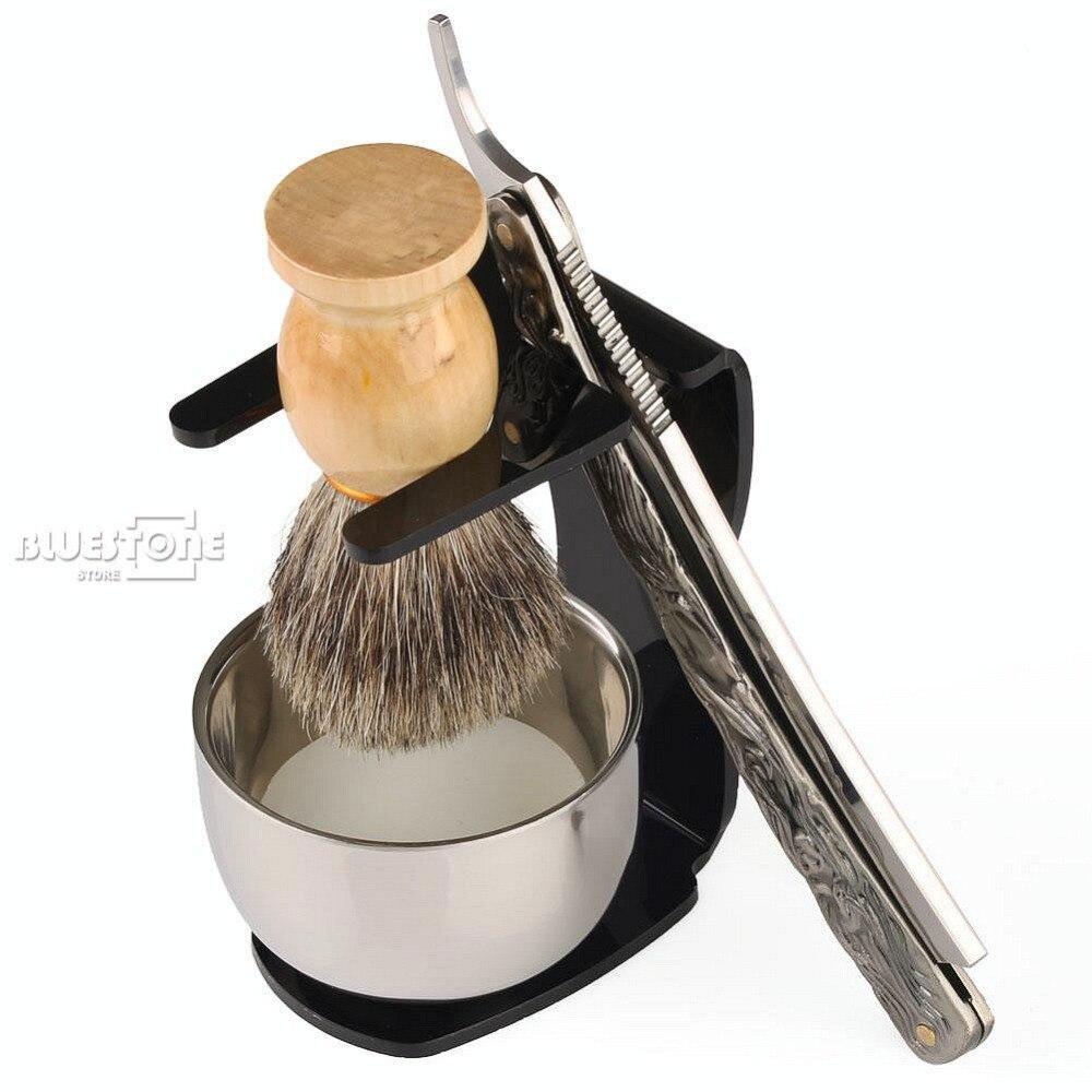 5 i 1 Raket Rakersats Rak Rakare + Borste + Svart Stativ + Skål + - Rakning och hårborttagning - Foto 4