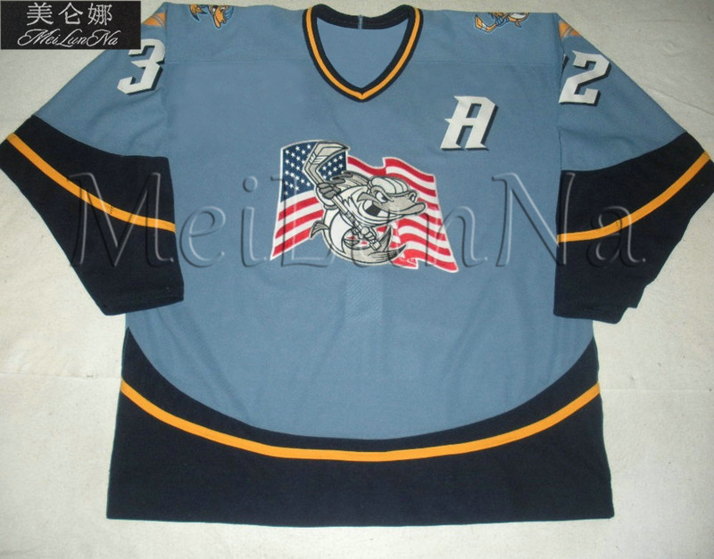 Customize ECHL Toledo Walleye 32 Cody Lampl Jersey Road Blue1