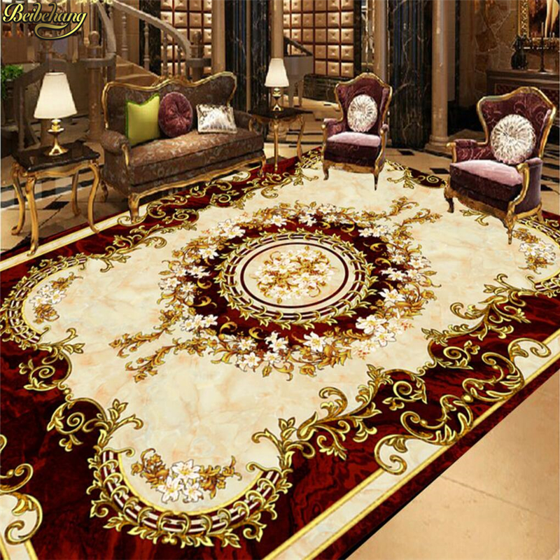 beibehang Custom Photo Wallpaper 3D Self Adhesive Floor Atmosphere European Style Ceiling Continental Carpet Floor Painting beibehang custom european victoria photo