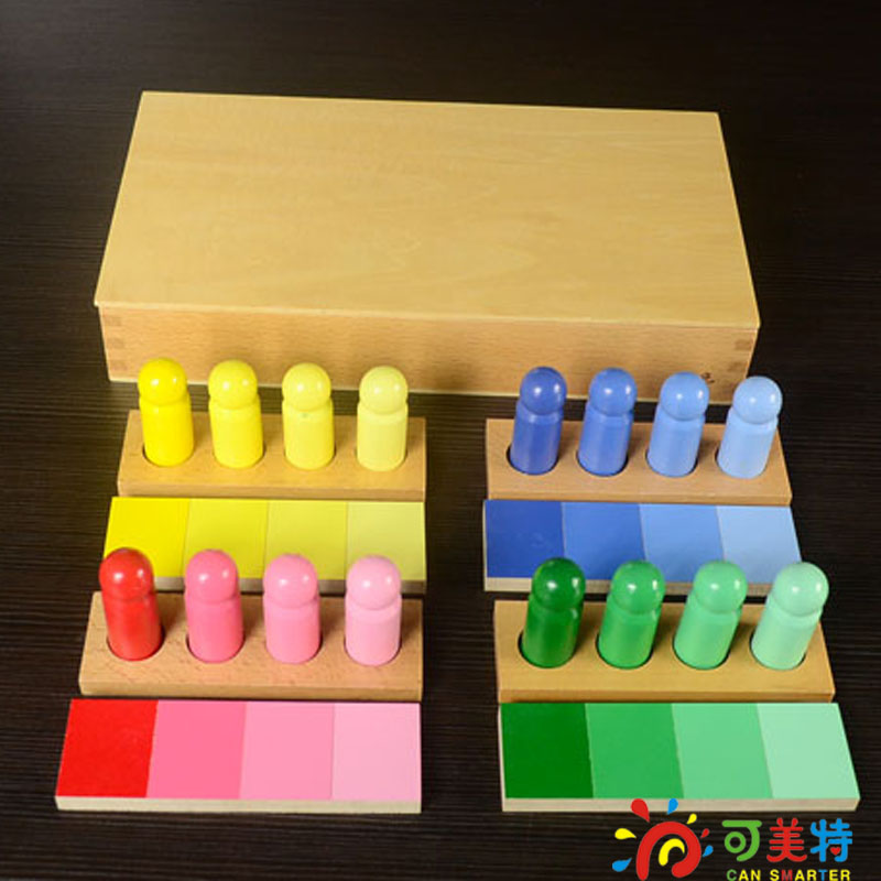 Montessori EducationColour Contrast Professional Pack Beech Wood   Sensory toys Early educational toys Free Shipping montessori education global block beech wood square box drawer sensory toys early educational toys can smarter free shipping
