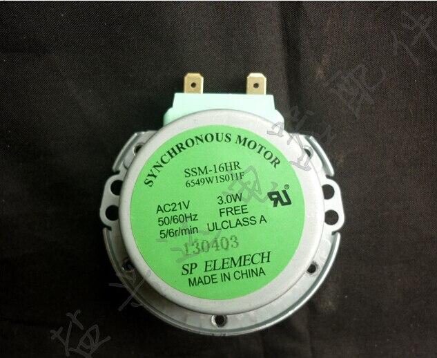 Бесплатная Доставка Микроволновая Печь поворотный двигатель SSM-16HR Синхронный Двигатель AC21V 3 Вт 50/60 ГЦ 5/6r/min 6549W1S011F