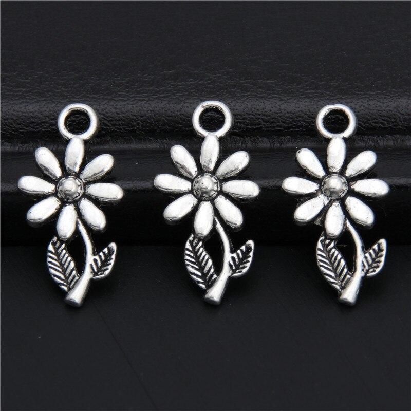 20//60pcs Tibetan silver 2-9 Hole earring Connectors Charms Pendants 16*21mm