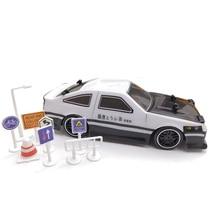 سيارة سباق صغيرة تعمل بالدفع الرباعي طراز رقم AE86 مع جهاز تحكم عن بعد 1:24 2.4G مع راديو للتحكم في الطرق الوعرة سيارة لعبة سيارة سباق عالية السرعة
