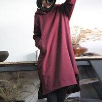 SCUWLINEN 2017 Vintage Elegant Fine Cotton Fleece Pullover Placketing All Match Sweatshirt With A Hood One