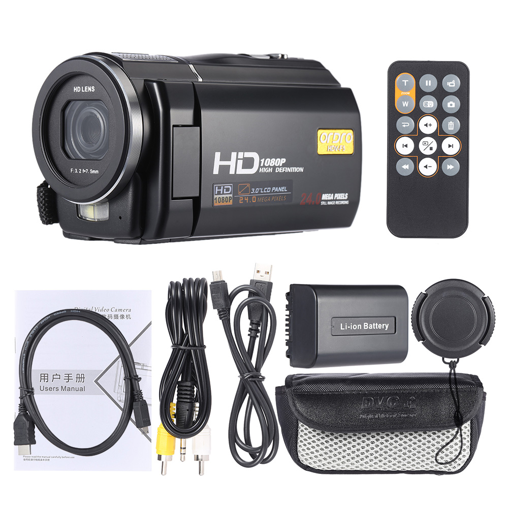 DHL Free Ship 24Mp Wifi HDV-F5 Digital Camcorder Video Camcorder 1920x1080P Full HD 3 Touch Screen 16X Zoom 1800mah Battery 10pcs free dhl black touch screen