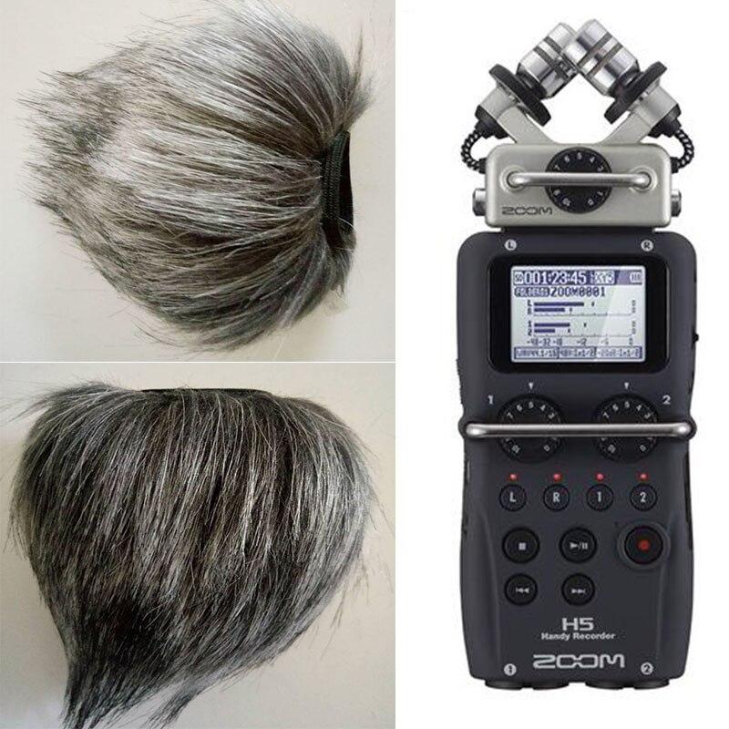 Profession Microphone Furry Couverture Du Vent Pour ZOOM H5 H6 Quatre-Piste Portable Enregistreur Enregistrement Vocal Stylo Nouveau Style HN-15