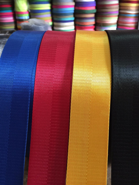 Safety 3M Width 38 Mm Color Safety Ribbon Belt Bag Webbing Nylon Ribbon Knapsack Strapping Sewing Bag Belt Accessories