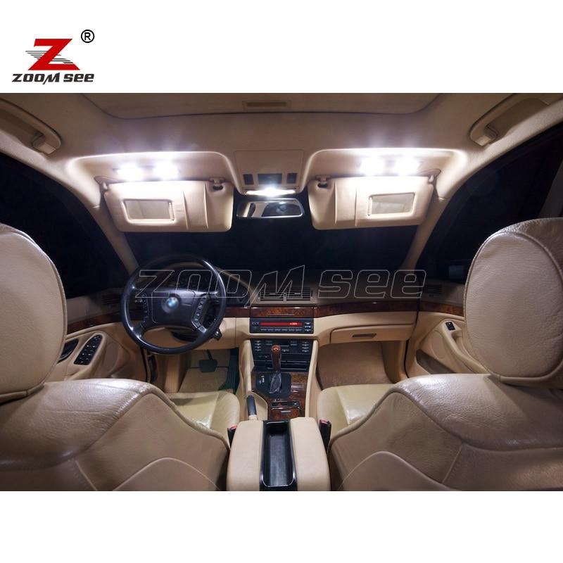 21pcs LED notranja svetilka + svetilka registrske tablice za BMW E39 - Avtomobilske luči - Fotografija 2