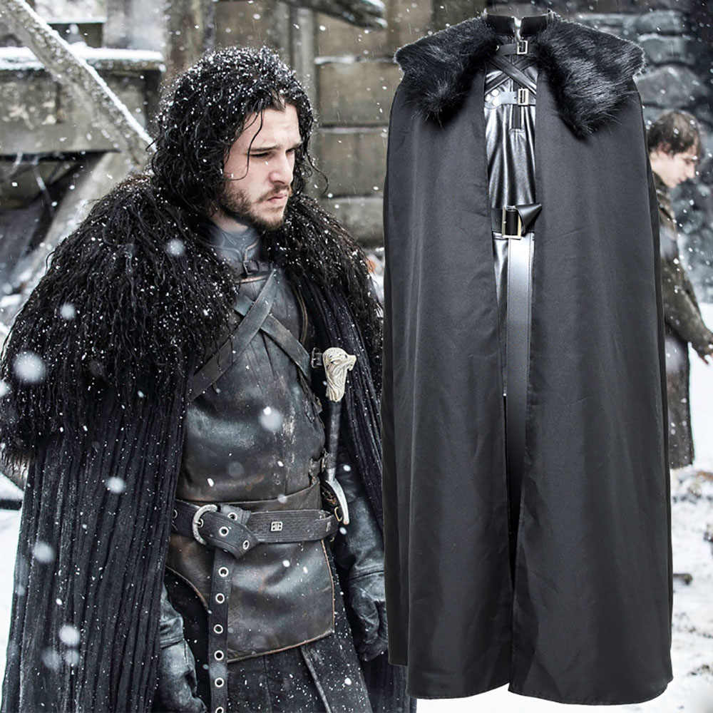 Hot American TV Series Game of Thrones Jon Snow Cosplay Costume Outfit A song of ice and fire Costume Halloween Party Prop