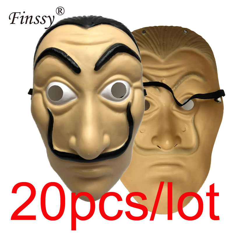 Moive Money Heist The House of Paper Cosplay Mask for Men La Casa De Papel Salvador Dali Face Masks for Women Halloween Carnival