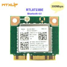 Wifi 300 mb s + Bluetooth 4 0 MINI karta PCI-E do RTL8723BE SPS 753077-001 karta sieciowa wi-fi do Hp 470 455 450 445 440 G2 tanie tanio WTXUP 300 mbps NONE CN (pochodzenie) Wewnętrzny wireless Laptop 802 11n Mini PCI-E Mini pci-express 2 4g ETHERNET