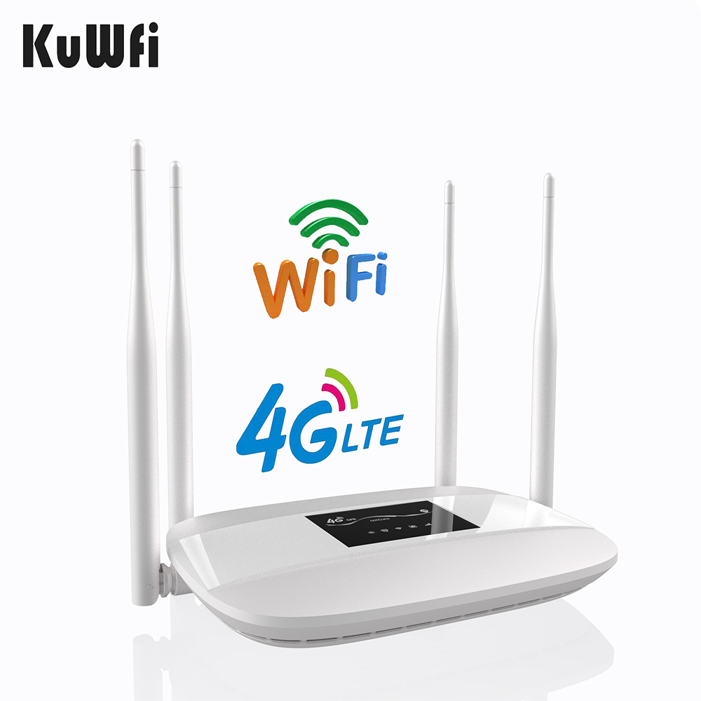 300Mbps Unlocked 4G LTE CPE Wireless Router Support SIM Card 4Pcs Antenna With LAN Port Support up to 32 Wifi users WPS Function edup ep n1571 mini 300mbps usb wireless lan card w wps function black%3