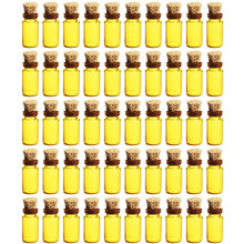 HIPSTEEN 50Pcs 1ML Mini Glass Bottles small with Cork Stoppers Empty Sample Storage Jars 11*22MM Small Gift Containers hot sale