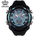 SMAEL Luxury Brand Men Military Sports Watches Digital LED Quartz Wristwatches Rubber Strap Relogio Masculino Man Watch