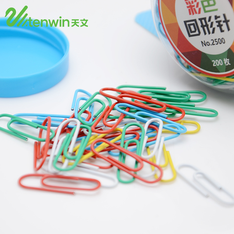 200 Pcs/lot 28mm Mini Color Paperclip Photo Holder Cute Kawaii Paper Clips Office Metal Clamps For Kids Gift School Supplies