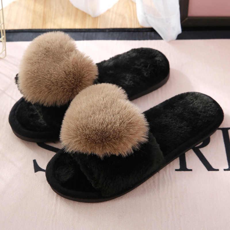 PKSAQ mujeres zapatillas de algodón negro mujeres calientes lindas zapatillas de corazón zapatos de algodón de invierno zapatos térmicos de interior chanclas # AN01