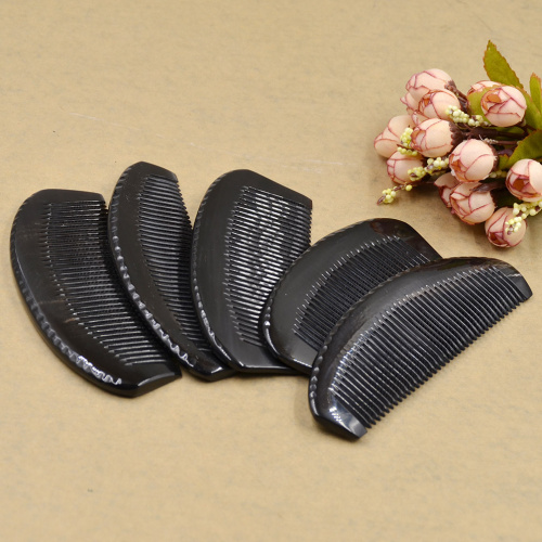 Head Massage Relaxation Artificial Ox Horn Handle Comb Hair Brush Health Care Natural Massage Comb  Random Delivery