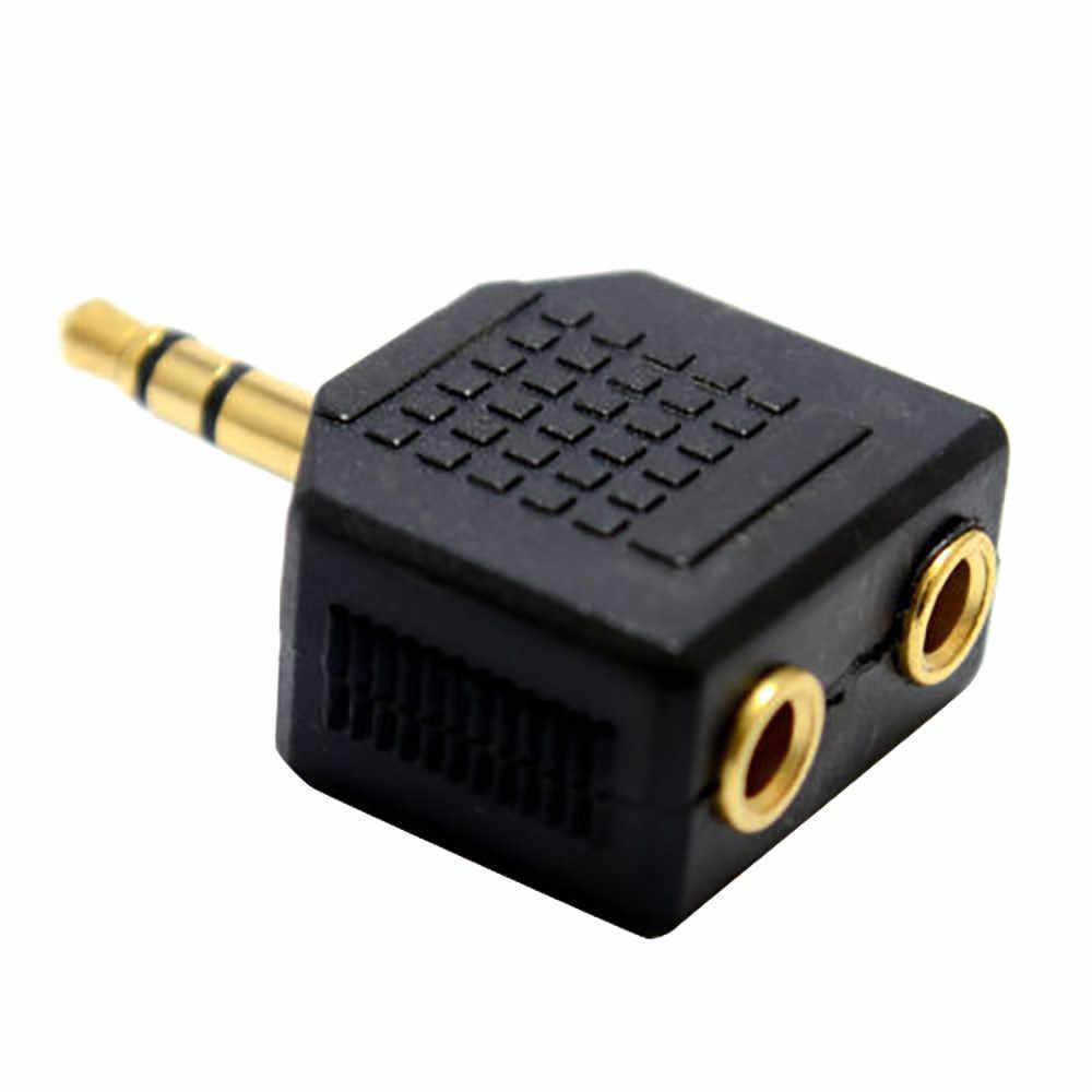 1PC Kualitas Tinggi 3.5 Mm Jack Stereo Earphone Plug Splitter/Y Adaptor 1 Plug untuk 2 Soket untuk ipod/Mp3 Pemain # H15