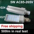 G24 LED Corn Bulb SMD 2835 Lighting Lamp AC85V-265V 5W home office LED pl bulb lamps