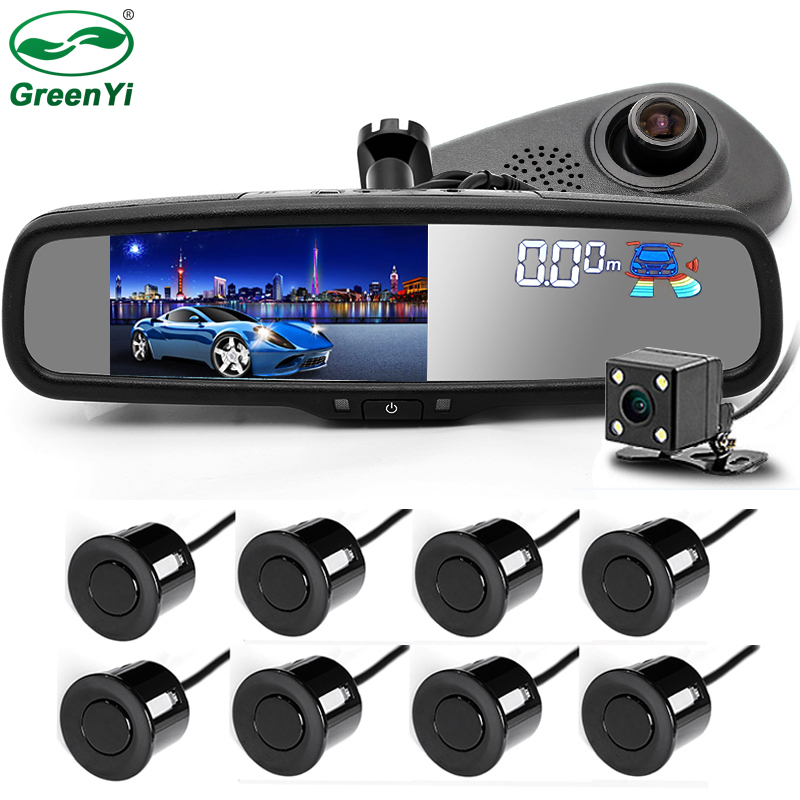 GreenYi 5 Car Camera DVR Dual Lens Rearview Mirror Video Recorder 1080P Automobile DVR Mirror with
