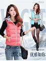 2017 новых осенью и зимой дизайн вниз короткий хлопок-ватник жилет женский тонкий жилет жилет женщин
