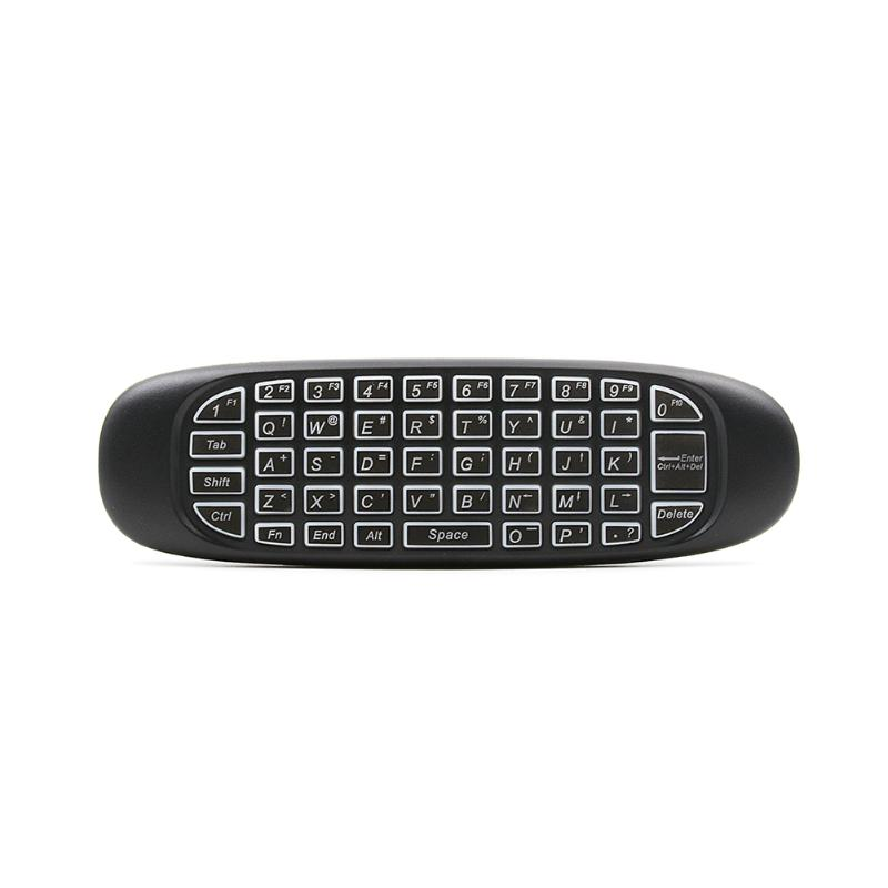 3 Colors Backlight Remote Control Wireless Keyboard 2.4G IR Learning Air Fly Mouse Game Controller Keyboard for Smart TV BOX