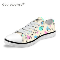 ELVISWORDS Women Ice Cream Printing Low Top Vulcanize Shoes for Girls Cartoon Pattern Canvas Flats Sneakers Teenagers Girls
