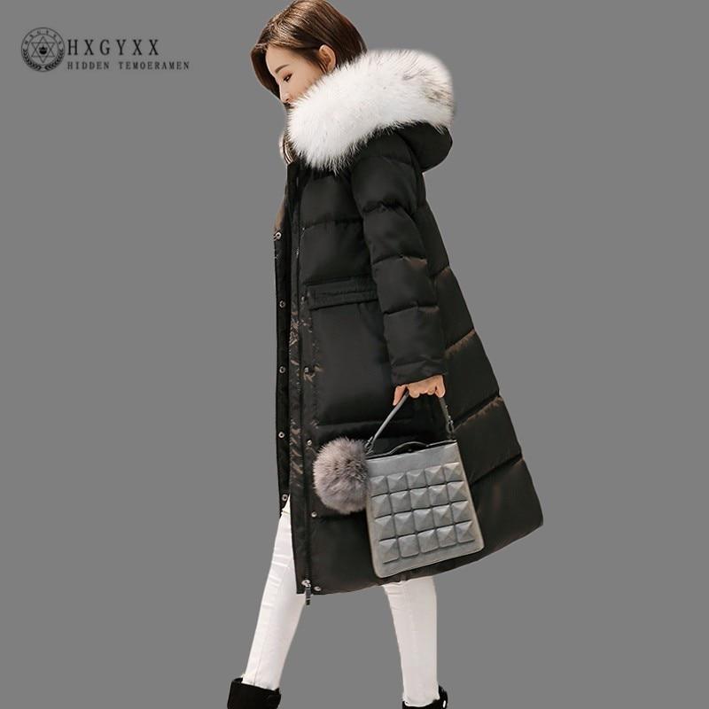 Women Outwear Fur Collar Hooded Slim Fit Belt Winter Warm Duck Down Coat Jacket