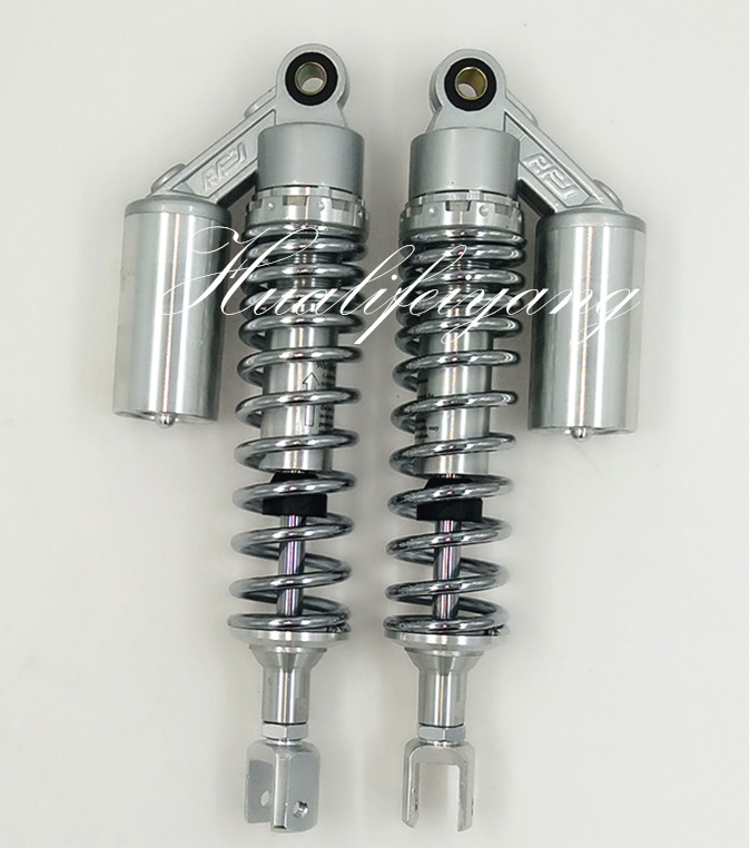 Chrome 13.5340mm  1 pair  7mm spring universal fork motorcycle Shock Absorbers for honda  cb750 cb250 ATV QUAD  scooter  silver 320mm motorcycle fork rear nitrogen shock absorber for bws100 bws125 rd250 350 pit atv scooter motorbike colorful