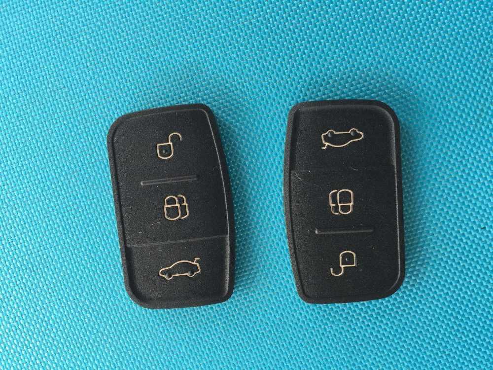 1pc de nova substituição chave dura 3 botões para ford focus fiesta c max s max galaxy remoto flip chave caso escudo